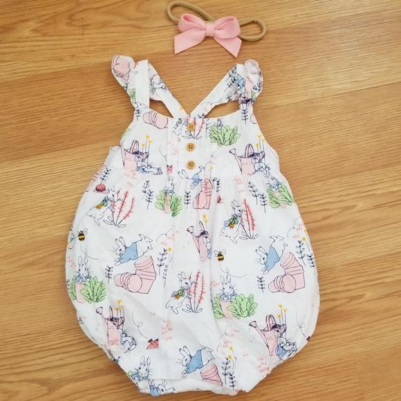 f4e2c135773c Gymboree Other - Gymboree Peter Rabbit baby girl romper 3-6 months